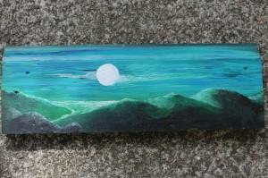 Blue moon scape