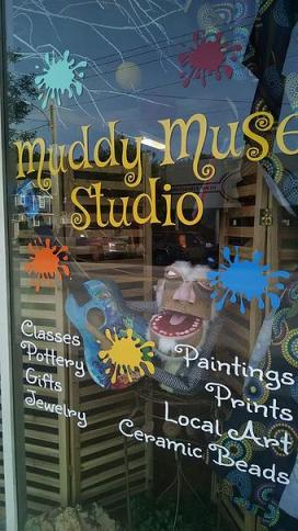 Muddy Muse Window