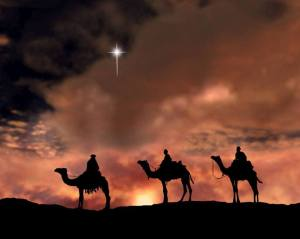 Wise Men following the star
