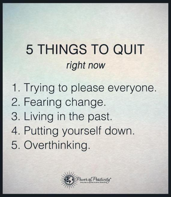 Quit these five things right now