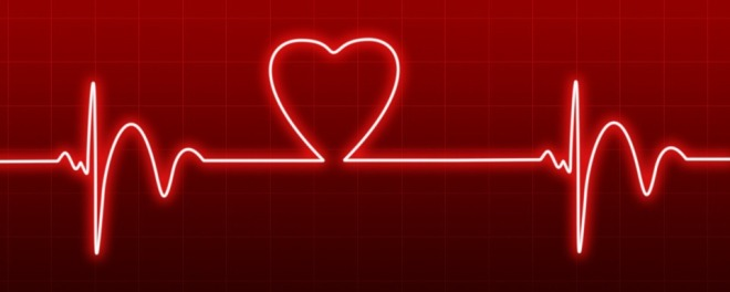 heart beat red